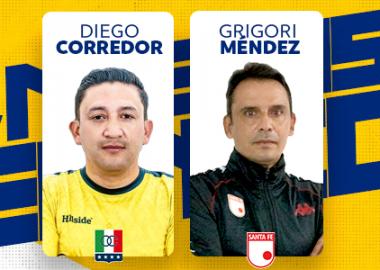 Nuevos DT del FPC, Diego Corredor y Grigori Méndez