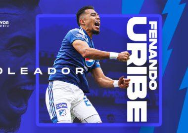 Fernando Uribe, goleador Millonarios FC