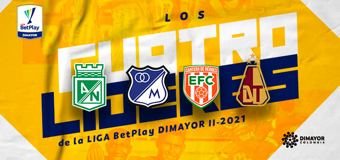 Líderes de la Liga BetPlay DIMAYOR II-2021